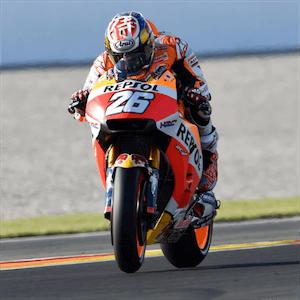 Piloto de MotoGP em ação