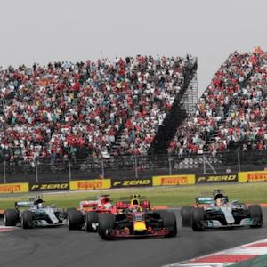 O Grande Prêmio do México em ação