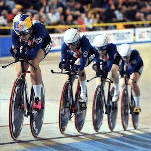 Campeões da pista da UCI em ação