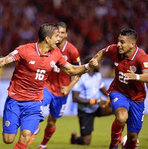 Jogadores da Costa Rica radiantes rumo à FIFA 2018