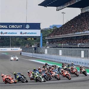 Ação do MotoGP na Tailândia