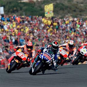 O MotoGP Valenciano em ação