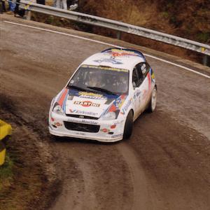 Competindo no Rally de Catalunya