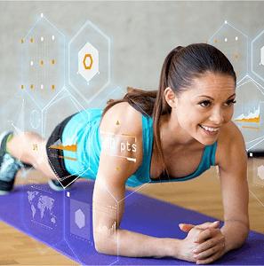 Tecnologia fitness em ação